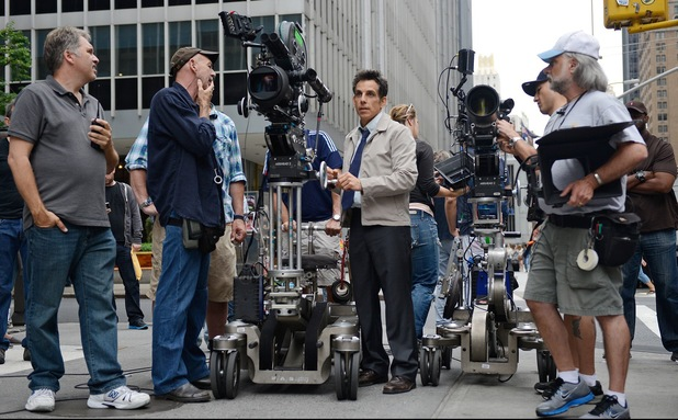 Ben Stiller directs a scene for The Secret Life of Walter Mitty