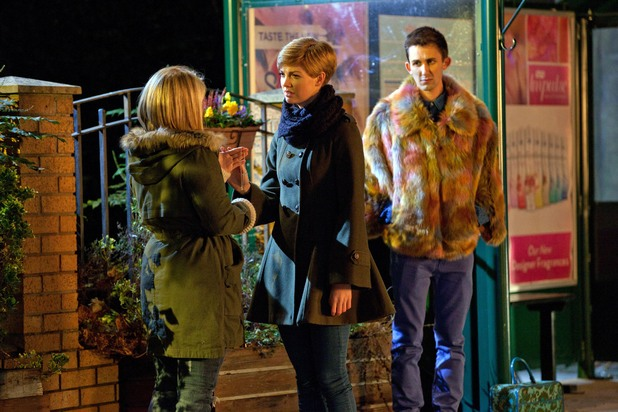 Tilly with Esther and George in her final scenes