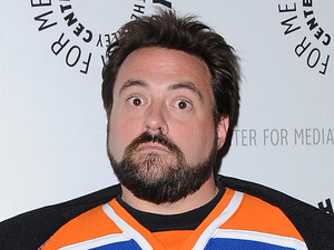 Kevin Smith at the West Coast Premiere of 'Batman: The Dark Knight Returns, Part 2', Los Angeles