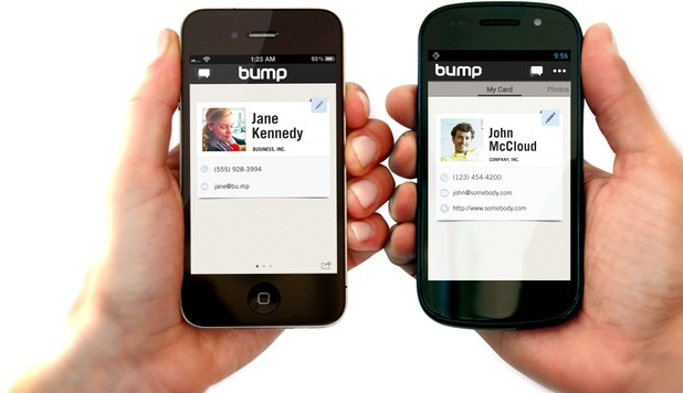 Bump file-sharing app for mobile