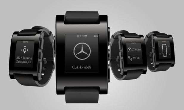Mercedes-Benz integration with a Pebble smartwatch