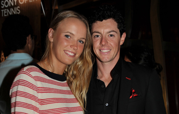 Caroline Wozniacki and Rory McIlroy at the Sony Open Player's Party, Miami