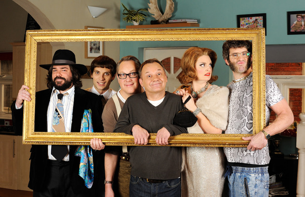 Matt Berry, Daniel Simonsen, Vic Reeves, Bob Mortimer, Morgana Robinson and Dan Skinner in House of Fools