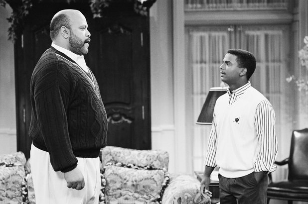 James Avery as Phillip Banks and Alfonso Ribeiro as Carlton Banks in The Fresh Prince of Bel-Air