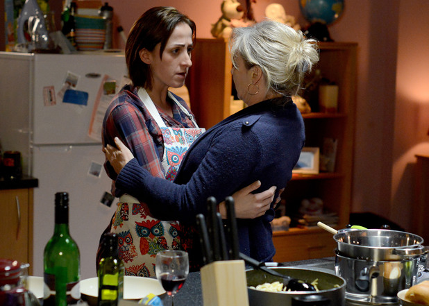 Carol tells Sonia about the breast cancer but insists she is coping with the news