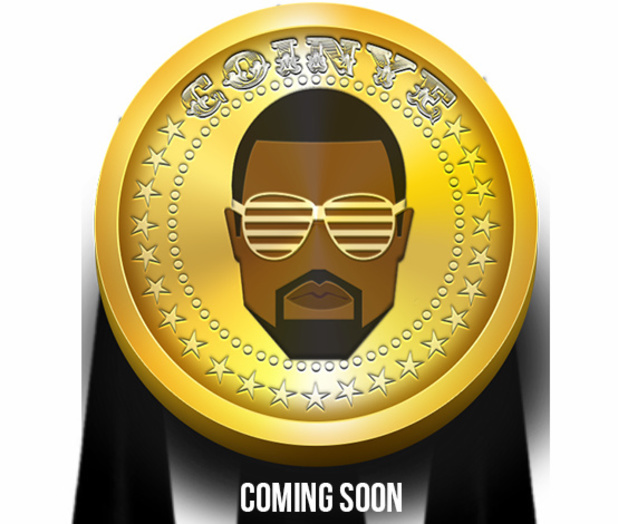 Knye West-inspired crypocurrency Coinye West press shot 2014.