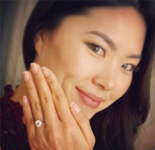 TJ Thyne's engagement ring for Leah Park