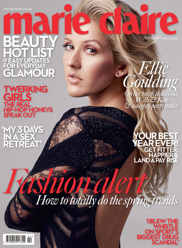 Ellie Goulding on the February '14 cover of Marie Claire