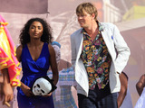 Sara Martins as Camille and Kris Marshall as Humphrey in Death in Paradise