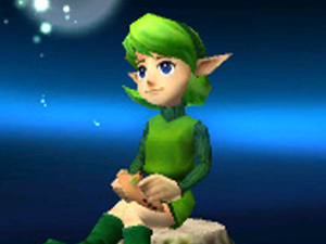 Saria trophy in Super Smash Bros for 3DS