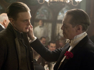 Steve Buscemi as Nucky and Michael Pitt as Jimmy in Boardwalk Empire