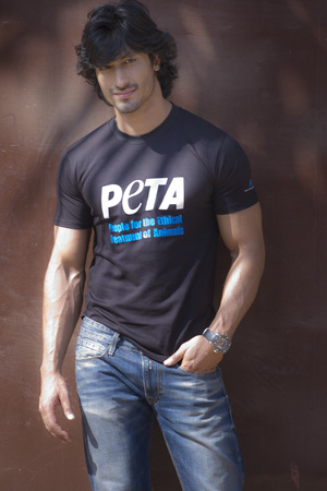 Vidyut Jammwal poses for PETA