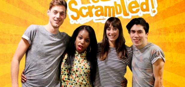 The hosts of Scrambled!