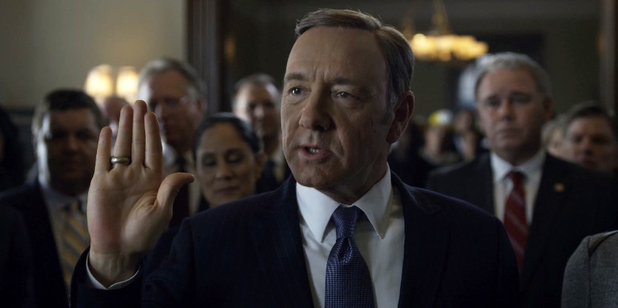 Kevin Spacey in the trailer for House of Cards' second season