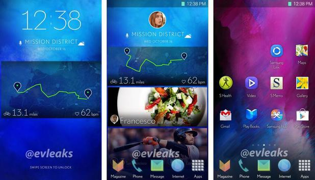 Evleaks purported screenshot of Galaxy S5 UI