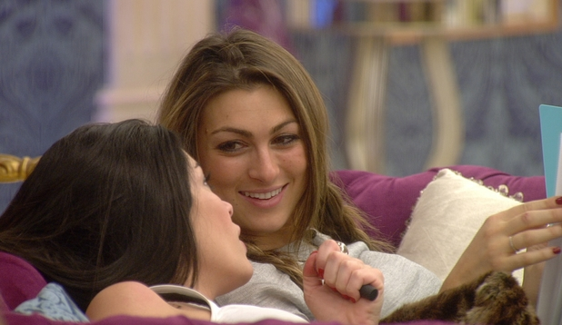 Celebrity big brother 2014 day 3 jasmine waltz luisa zissman chat for Watch celebrity showmance
