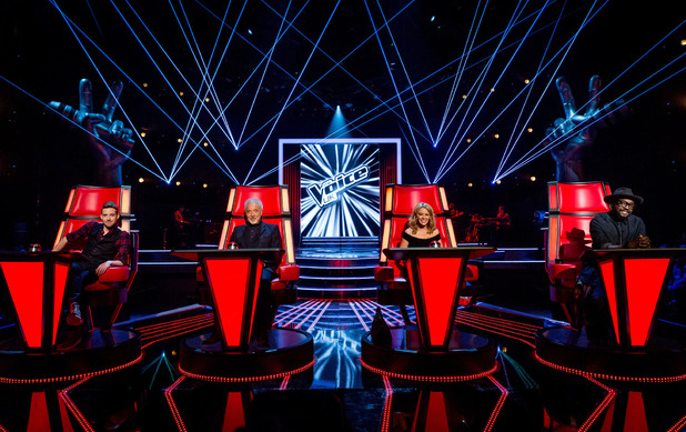The Voice UK series 3 judges on the first day of filming