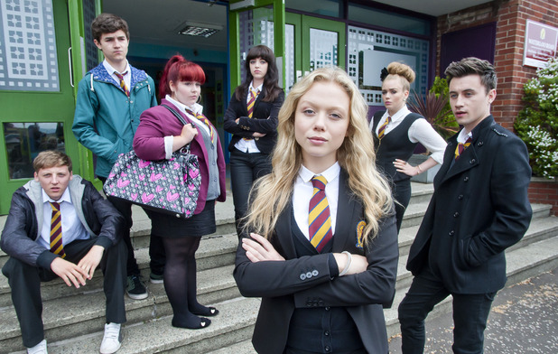 Gabriella with her fellow Waterloo Road pupils
