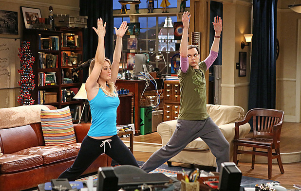 Kaley Cuoco as Penny & Jim Parsons as Sheldon in The Big Bang Theory: 'The Occupation Recalibration'