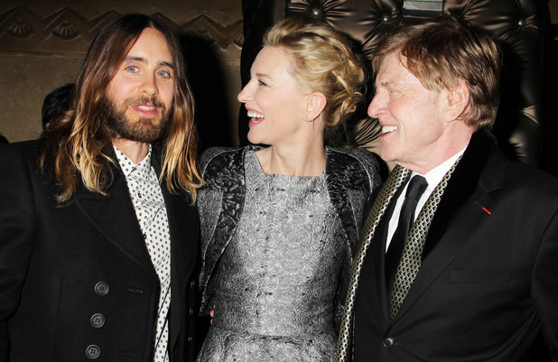 New York Film Critics Circle Awards, New York, America - 06 Jan 2014 Jared Leto, Cate Blanchett and Robert Redford