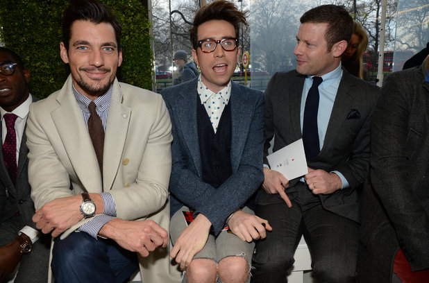 David Gandy, Nick Grimshaw and Dermot O'Leary