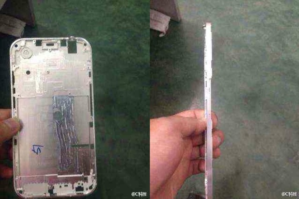 Purported leaked images of the iPhone 6's casing