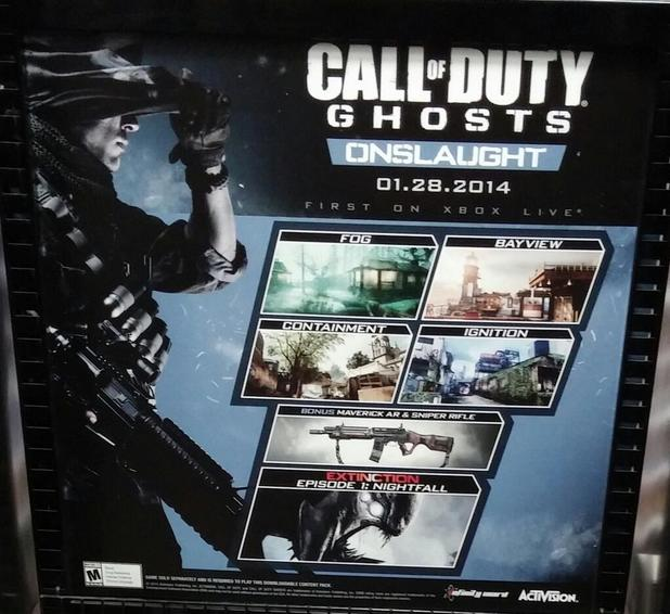Purported Call of Duty: Ghosts display at a GameStop store