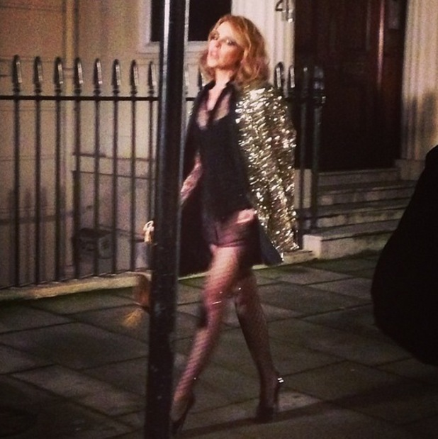 Kylie Minogue shoots new music video