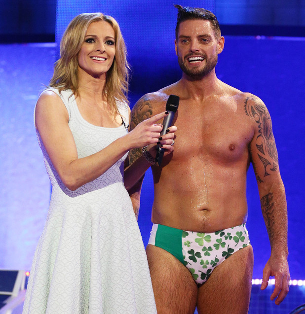 Gabby Logan and Keith Duffy
