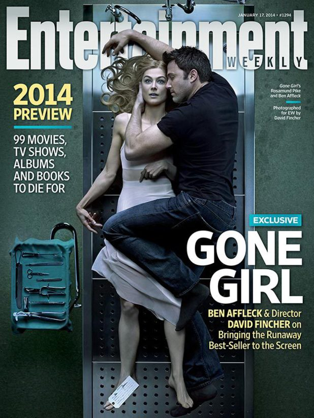 Ben Affleck & Rosamund Pike on EW's Gone Girl cover