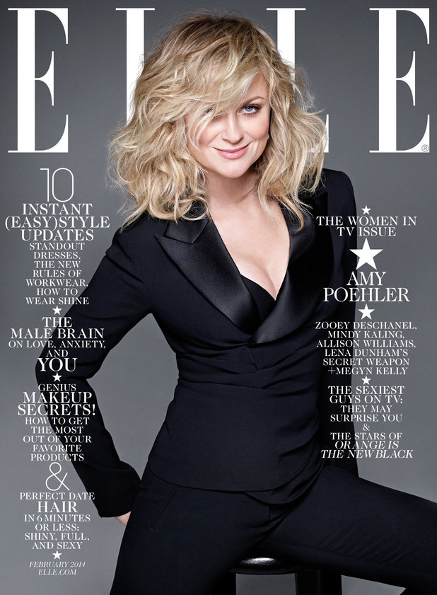Amy Poehler on the cover of Elle magazine