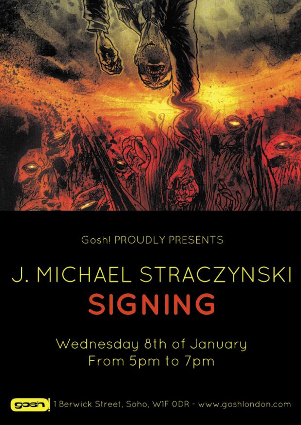 J Michael Straczynski signing poster