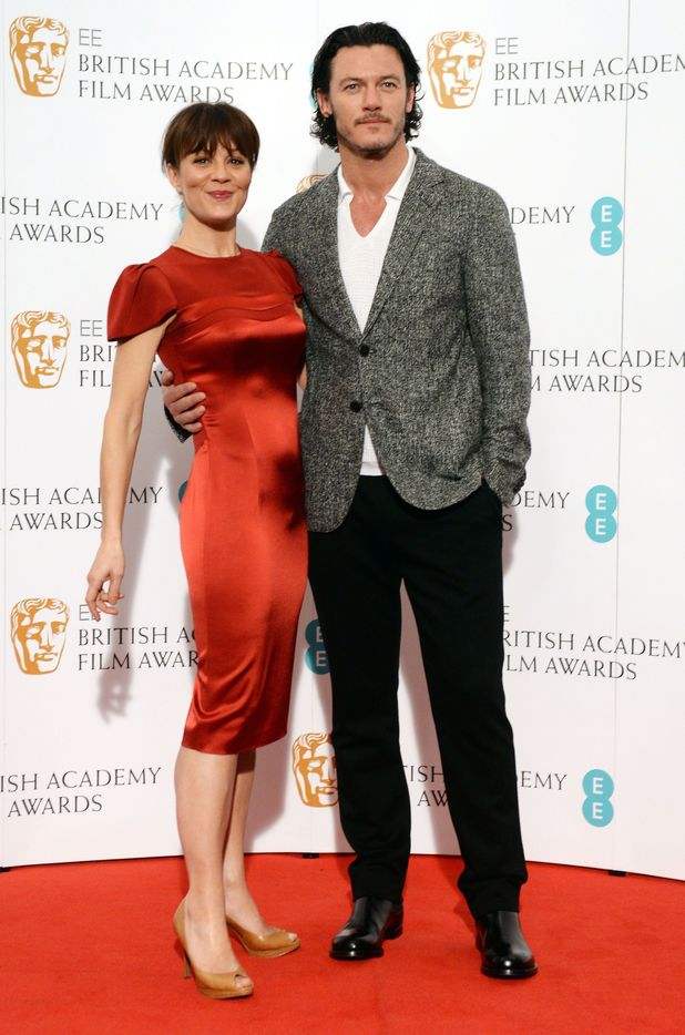 British actors Helen McCrory and Luke Evans at a photocall in central London for the announcement of this year's nominations for the EE British Academy Film Awards which will be held next month.