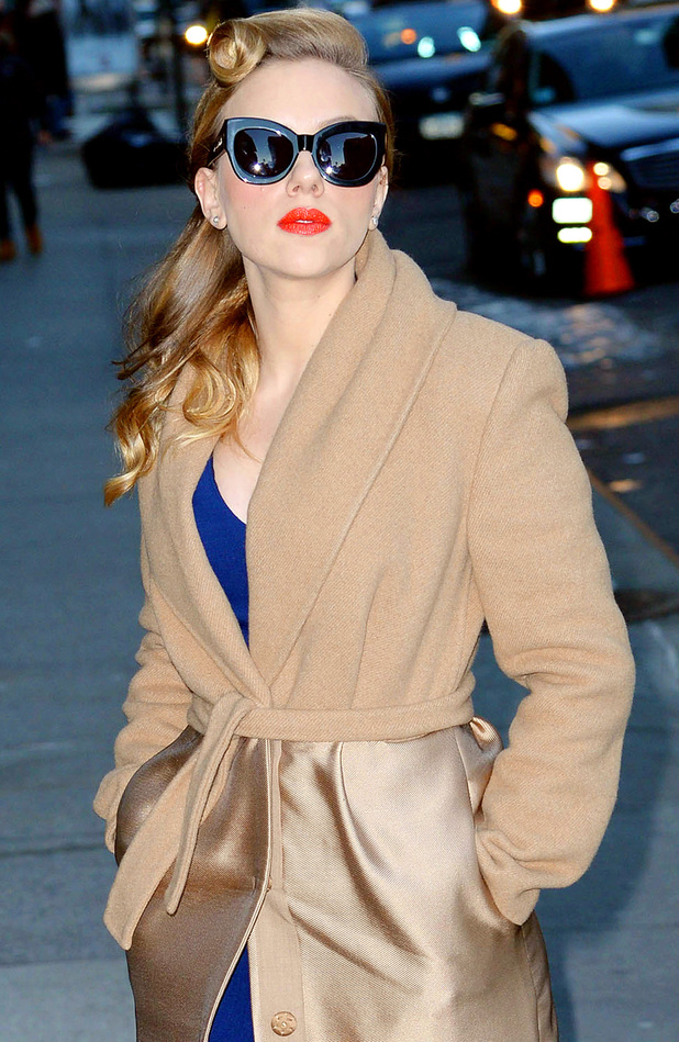 'Late Show with David Letterman', New York, America - 08 Jan 2014 Scarlett Johansson