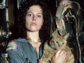 Sigourney Weaver with Jonesy the cat in Alien (1979)