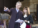 See the new Doctor with co-star Jenna Coleman on the set of the BBC sci-fi.