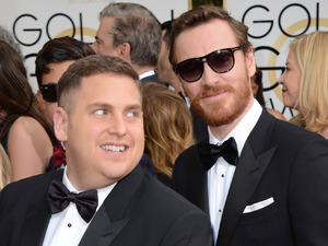 71st annual Golden Globe Awards: Jonah Hill, left, and Michael Fassbender