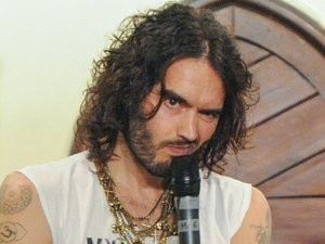 Russell Brand talks at the Cambridge University Union