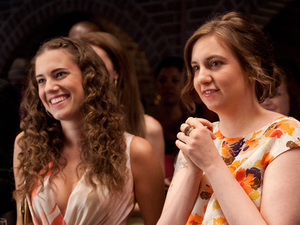 Allison Williams and Lena Dunham in Girls season one