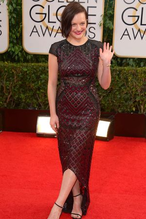 Elizabeth Moss 71st Annual Golden Globe Awards, Arrivals, Los Angeles, America - 12 Jan 2014