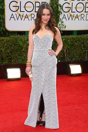 Emilia Clarke 71st Annual Golden Globe Awards, Arrivals, Los Angeles, America - 12 Jan 2014