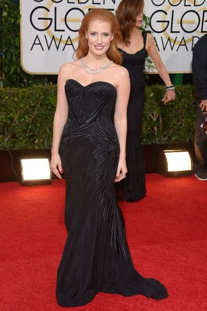 Jessica Chastain 71st Annual Golden Globe Awards, Arrivals, Los Angeles, America - 12 Jan 2014