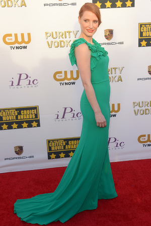 19th Annual Critics' Choice Movie Awards, Arrivals, Los Angeles, America - 16 Jan 2014 Jessica Chastain 16 Jan 2014