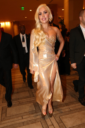 Lady Gaga attends NBC Universal's Golden Globes Post-Party Sponsored by Fiat and Hilton held at the Beverly Hilton Hotel on January 12, 2014