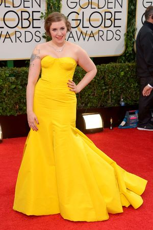 Lena Dunham 71st Annual Golden Globe Awards, Arrivals, Los Angeles, America - 12 Jan 2014