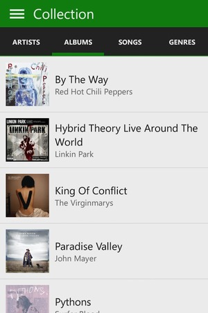 Xbox Music app for Android