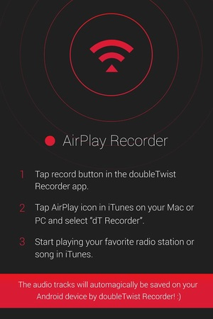 Screenshot of the iTunes Radio Recorder app