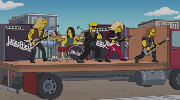 Judas Priest in 'The Simpsons'.
