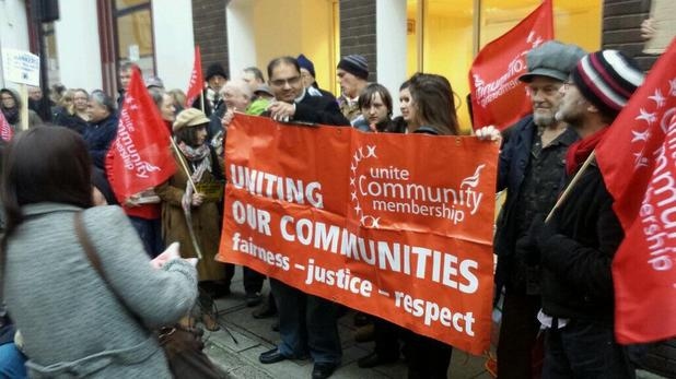 Unite Community's protest at Love Productions over Benefits Street