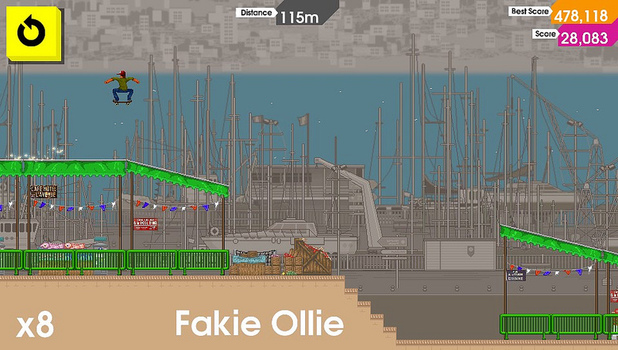 OlliOlli is a side-scrolling skateboarding game for PS Vita